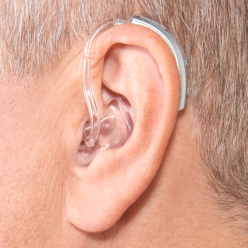 Behind The Ear Power Plus Hearing Aid On Ear